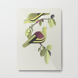Sri Lanka Green-pigeon (cln) Metal Print