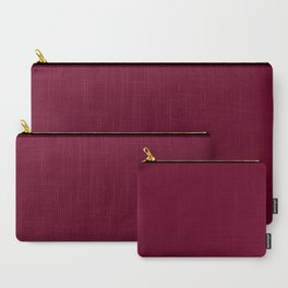 Burgundy solid. Carry-All Pouch