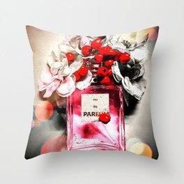 Eau de Parfum Pink Throw Pillow