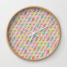 Block Party Bright Wall Clock