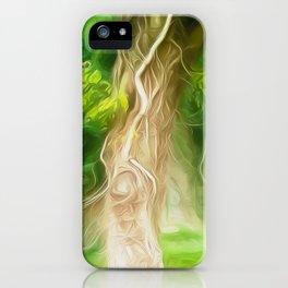 Dream Light Green Tree iPhone Case