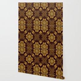 Gold black book cover ornate Wallpaper