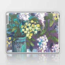 SK's Pink Lilacs in a Green Jar Laptop & iPad Skin