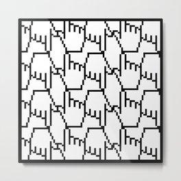 Geeky Pattern Metal Print