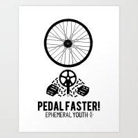 yowamushi pedal Art Prints featuring Pedal Faster by EphemeralYouth