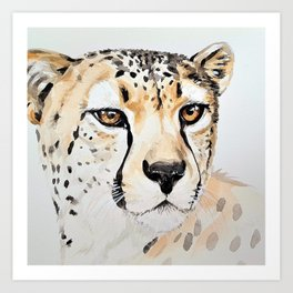 CHEETAH IN WATERCOLOR Art Print