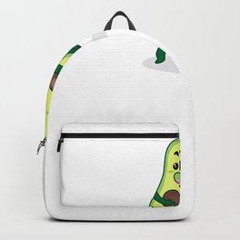 Cartoon Avocado Illustration Backpack