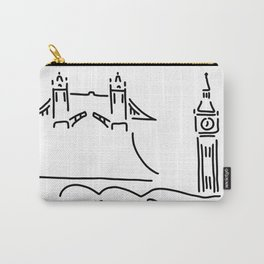 London tower bridge big ben Carry-All Pouch