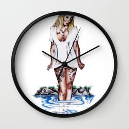 weirdling flower child Wall Clock