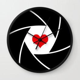 Aperture heart Wall Clock