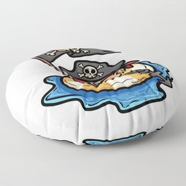 Pirate life buoy anchor treasure map Kids gift Floor Pillow