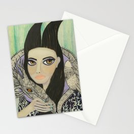Maleficent, Portrait of a Wicked Young Woman Stationery Cards