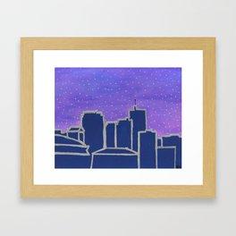 New Orleans City Skyline at Dawn Framed Art Print