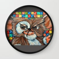 gizmo Wall Clocks featuring Gizmo  by Portraits on the Periphery
