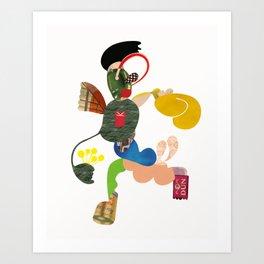 A Running Fella Art Print
