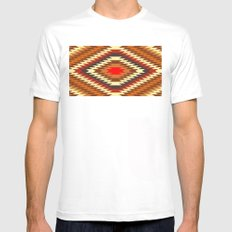 american native traditional ethnic costume motif seamless pattern Mens Fitted Tee White MEDIUM