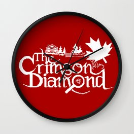 The Crimson Diamond monochromatic logo Wall Clock