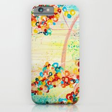 SUMMER IN BLOOM - Beautiful Abstract Acrylic Painting Vibrant Rainbow Floral Nature Theme  Slim Case iPhone 6s
