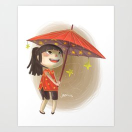 umbrella star Art Print