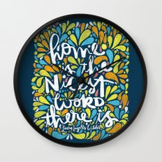 HOME IS THE NICEST WORD THERE IS. Wall Clock