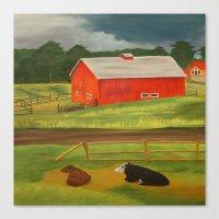 farm Canvas Prints featuring Farm by ArtSchool