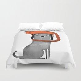 CAT LANDING Duvet Cover