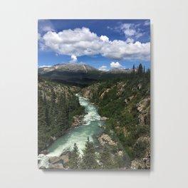 Yukon Suspension Bridge Metal Print