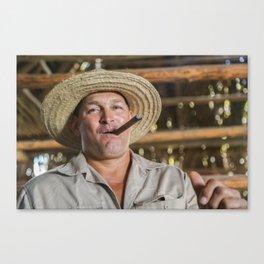 Manny the Cigar Farmer Canvas Print