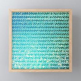 Mermaid Waves and Sea Foam, Sun Light over the Ocean Framed Mini Art Print