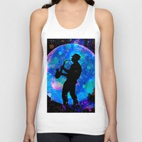 jazz Tank Tops featuring Jazz by Saundra Myles