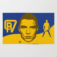 ronaldo Area & Throw Rugs featuring Christiano Ronaldo - The Sultan of the Stepover by Marc Dahl