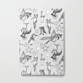 foxy circus black white Metal Print