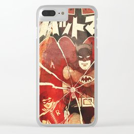 Bat Man (Manga) Clear iPhone Case