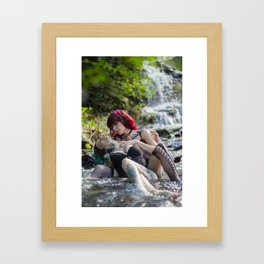 Caress Framed Art Print