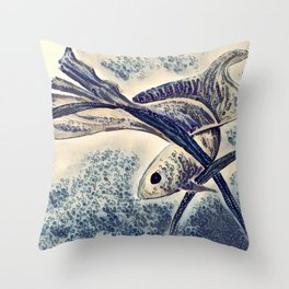 My Little Fish Throw Pillow