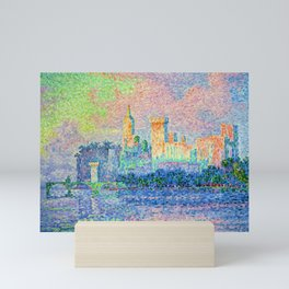 """Paul Signac """"Palais des Papes Avignon"""" Mini Art Print"""