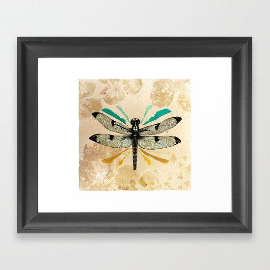 Autumn dragonfly Framed Art Print