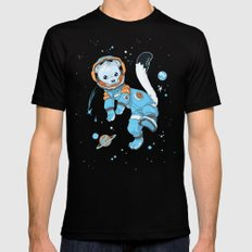 Space Ermine Black Mens Fitted Tee SMALL