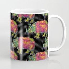 RHINO on Black Coffee Mug