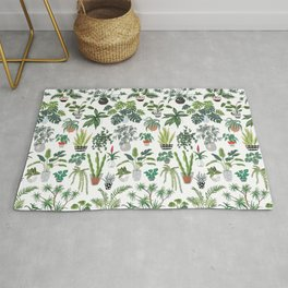 plants and pots pattern Rug