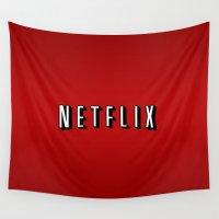 netflix Wall Tapestries featuring Netflix Logo by TParish Productions