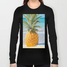 Aloha Pineapple Beach Kanahā Maui Hawaii Long Sleeve T-shirt