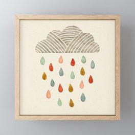 Rain Cloud Framed Mini Art Print