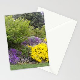 Beautiful Landscape With Purple and Gold Flower, Lush Landscape, Green Stationery Cards