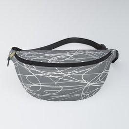 Hand Drawn Scribbles (Charcoal Grey) Fanny Pack