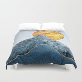 Sunset in the Volcanic Mountains Duvet Cover