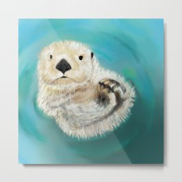 You Otter Chill Metal Print