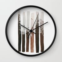 Wall Clocks featuring Into The Wild by Andreas Lie