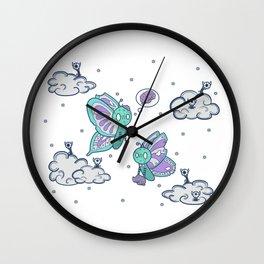 Zombie Butterfly Wall Clock