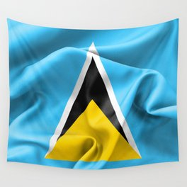 Saint Lucia Flag Wall Tapestry